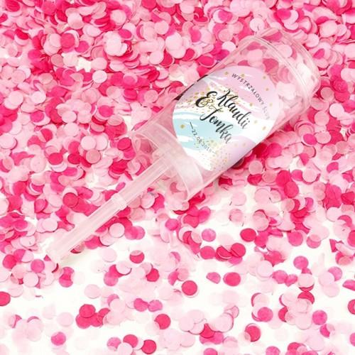 KONFETTI Wystrzałowy Ślub Z IMIONAMI Różowe KONIEC SERII