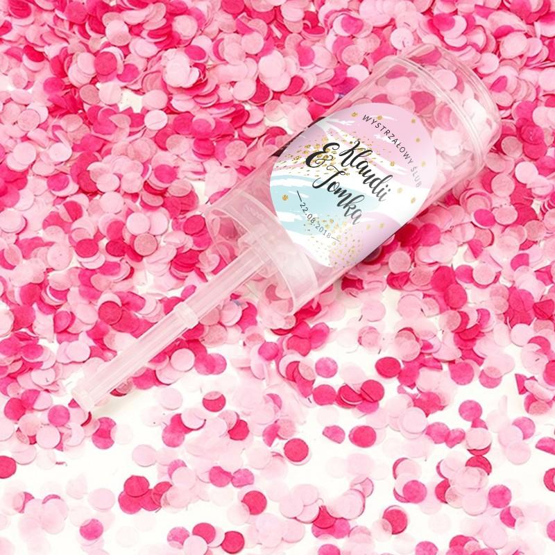 KONFETTI Wystrzałowy Ślub Z IMIONAMI Różowe