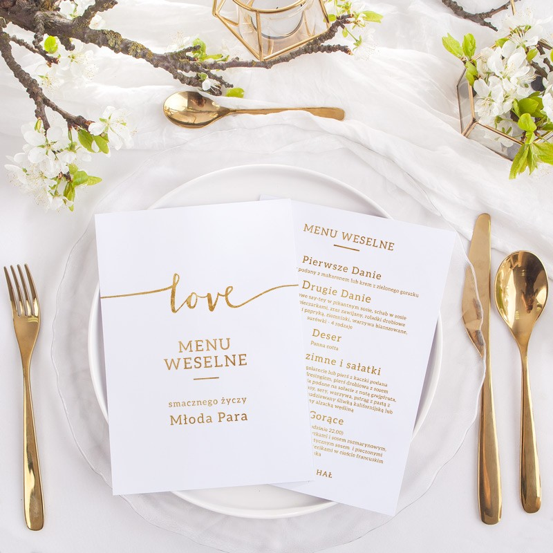 MENU weselne Kolekcja Love