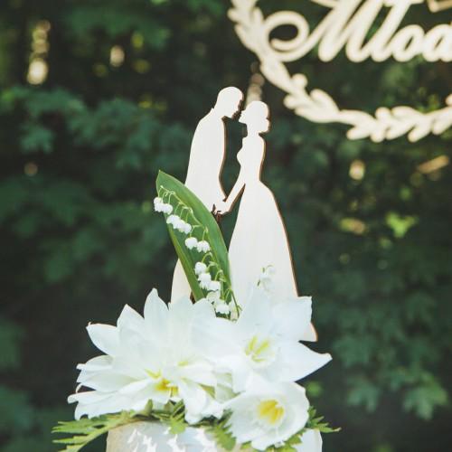 TOPPER DEKORACYJNY na tort Sweet Wedding NATURAL