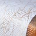 BIEŻNIK organza Złote Liście 48cmx9m