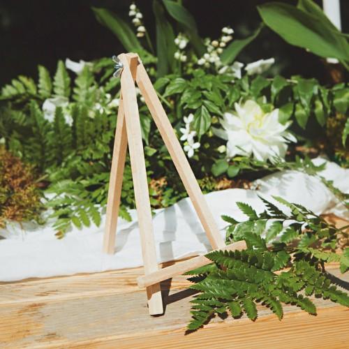 SZTALUGA drewniana na menu weselne DUŻA 25cm