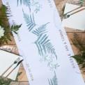 BIEŻNIK z IMIONAMI Pary Młodej Liście Paproci 42cmx5m