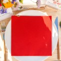 SERWETKI flizelinowe Duni Czerwone 60szt