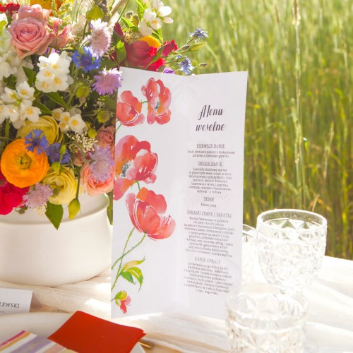 MENU weselne Kwiaty Lata