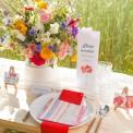 BILECIKI podziękowanie dla gości Kwiaty Lata 10szt