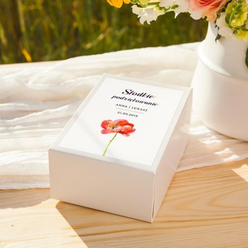 PUDEŁKA na ciasto z IMIONAMI Kwiaty Lata 12szt