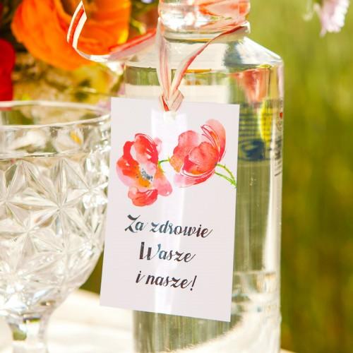 ZAWIESZKI na wódkę Kwiaty Lata 20szt PROMOCJA