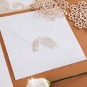 ZAPROSZENIE ślubne Złota Koronka (+koperta z wnętrzem+naklejka)