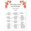 PLAN stołów personalizowany Kwiaty Lata