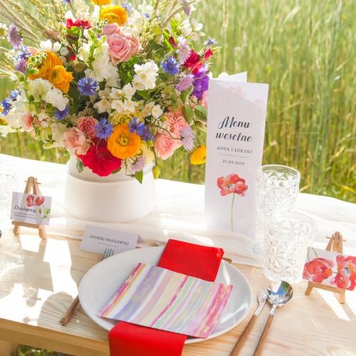 PODZIĘKOWANIE dla Rodziców w drewnianym pudełku Kwiaty Lata