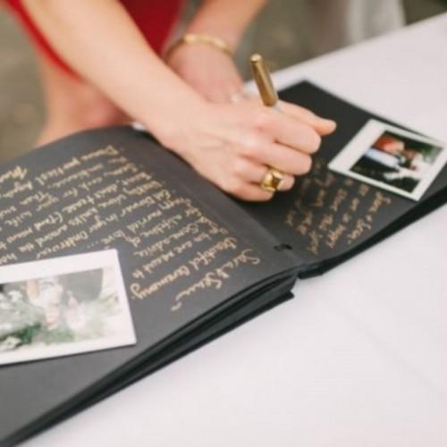 PISAK metaliczny złoty pisak do ksiąg