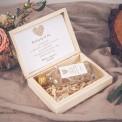 PODZIĘKOWANIE dla Taty w drewnianym pudełku KACÓWKA Czekoladowe LOVE