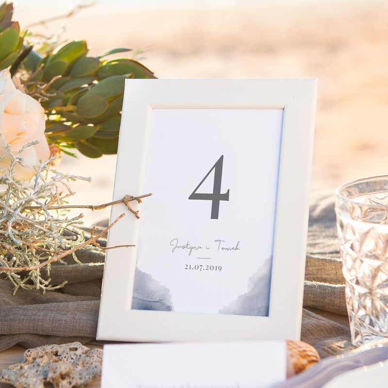 NUMEREK na stół wesele z imionami W Porcie Miłości