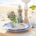 LATARNIA morska drewniana do dekoracji stołu 22cm
