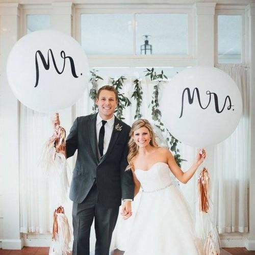 BALONY giganty Mr&Mrs 1m ZESTAW 2szt