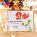 KSIĘGA Wspomnień dla Rodziców Kwiaty Lata (+wstążki czerwono-zielone)