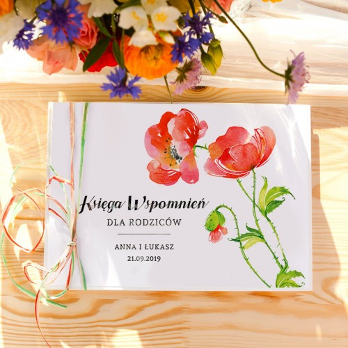 KSIĘGA Wspomnień dla Rodziców Kwiaty Lata