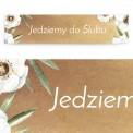 TABLICA rejestracyjna personalizowana Kremowe Anemony