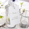 ZAWIESZKI na alkohol Kolekcja Love SREBRNE 20szt