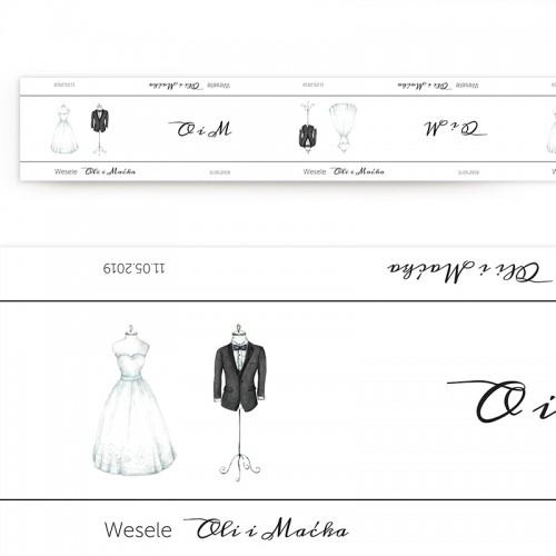 BIEŻNIK z IMIONAMI Pary Młodej Bride&Groom 42cmx5m