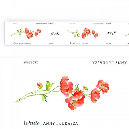 BIEŻNIK z IMIONAMI Pary Młodej Kwiaty Lata 42cmx5m