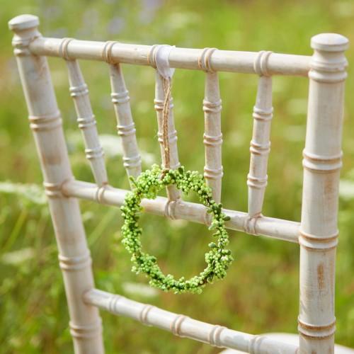 WIANUSZEK dekoracyjny Zielone Kuleczki MAŁY 12cm