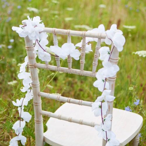 GIRLANDA kwiatowa Białe Orchidee 1,75m