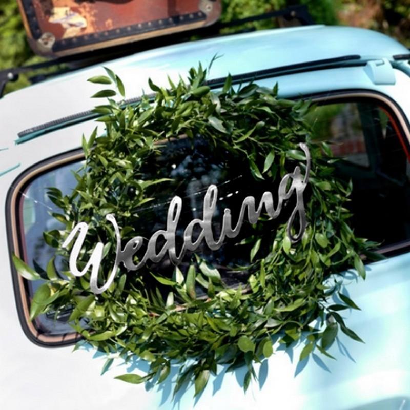 NAPIS dekoracyjny Wedding 45cm SREBRNY