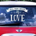NAKLEJKA na samochód ślubny All you need is Love