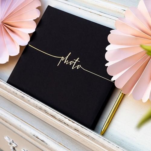 ALBUM na zdjęcia ślubne z napisem Photo CZARNY