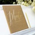 ALBUM na zdjęcia ślubne z napisem Photo KRAFT