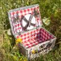 KOSZ piknikowy Z WYPOSAŻENIEM dla 4 osób prezent dla Rodziców/Pary Młodej PROMOCJA