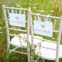 TABLICZKI na krzesła Pan i Pani Młoda Czekoladowe Love (+tasiemka)