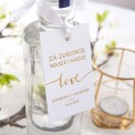 ZAWIESZKA na alkohol personalizowana Love