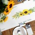 BIEŻNIK z IMIONAMI Pary Młodej Słoneczniki 42cmx5m