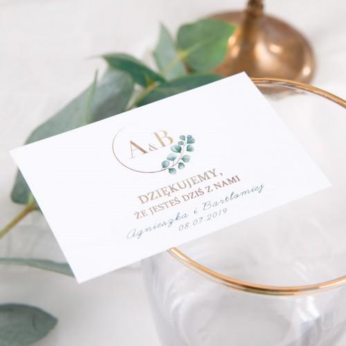 BILECIK personalizowany Eukaliptus