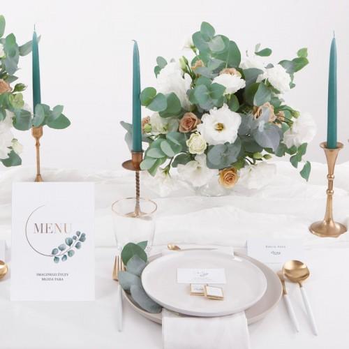 TABLICZKA na stolik z personalizacją Eukaliptus