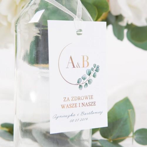ZAWIESZKA na alkohol personalizowana Eukaliptus
