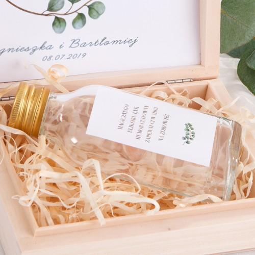 PODZIĘKOWANIE dla Świadka w drewnianym pudełku KACÓWKA Eukaliptus