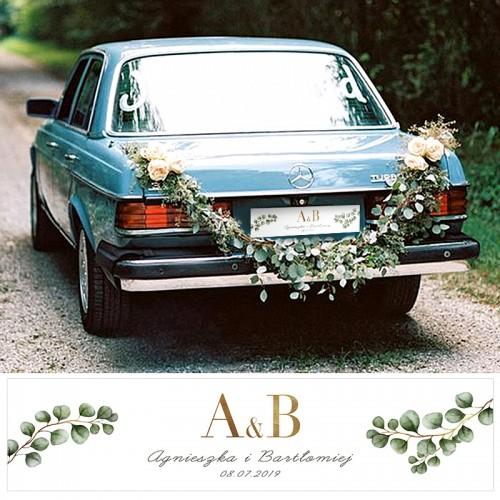 TABLICE rejestracyjne ślub Z NADRUKIEM Eukaliptus
