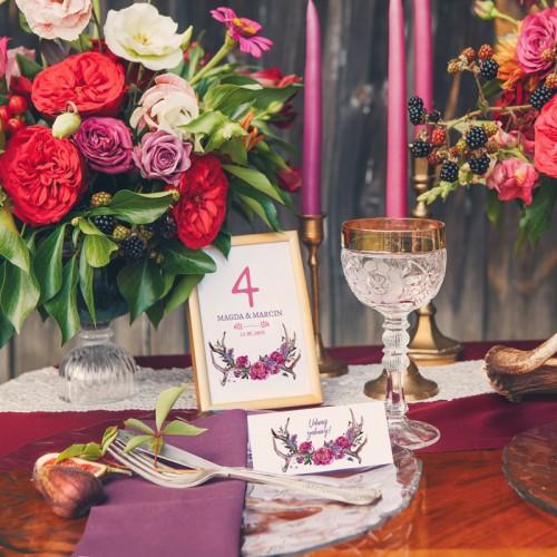 CIASTECZKO z wróżbą Kwiaty Boho (+etykieta z imieniem)