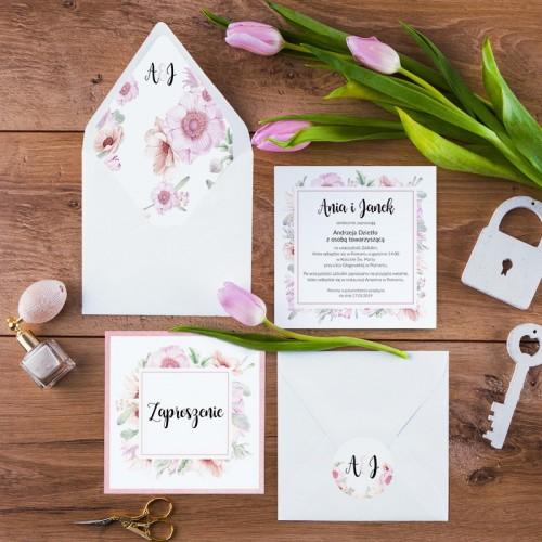 ZAPROSZENIE ślubne La Marti (+koperta z wnętrzem+naklejka)