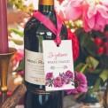 ZAWIESZKI na alkohol Kwiaty Boho 20szt