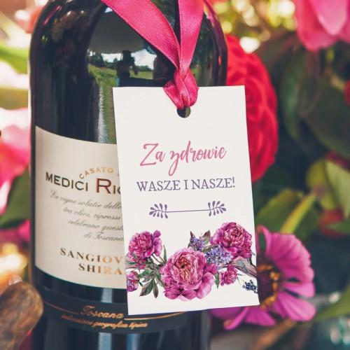 ZAWIESZKI na alkohol Kwiaty Boho 20szt OSTATNIA PACZKA