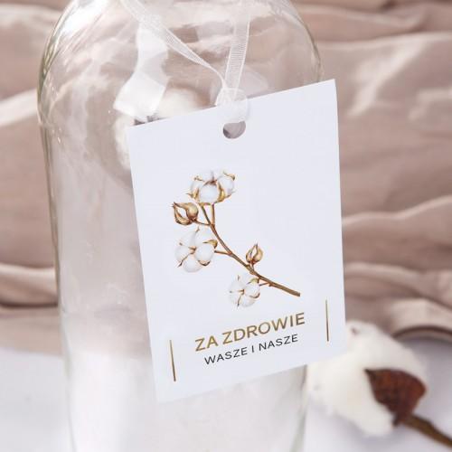 ZAWIESZKI na alkohol Kwiaty Bawełny 20szt PROMOCJA