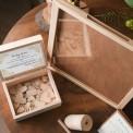 KSIĘGA GOŚCI weselnych drewniana w ramce 40x50cm (+50serc+kuferek)