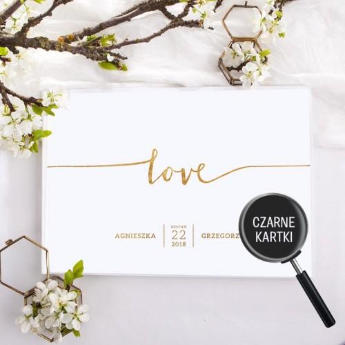 KSIĘGA GOŚCI personalizowana z czarnymi kartkami LOVE