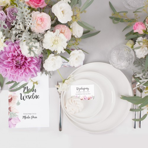 NUMEREK na stół wesele z imionami LiMarte