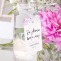 ZAWIESZKA na alkohol personalizowana Liliowe Love